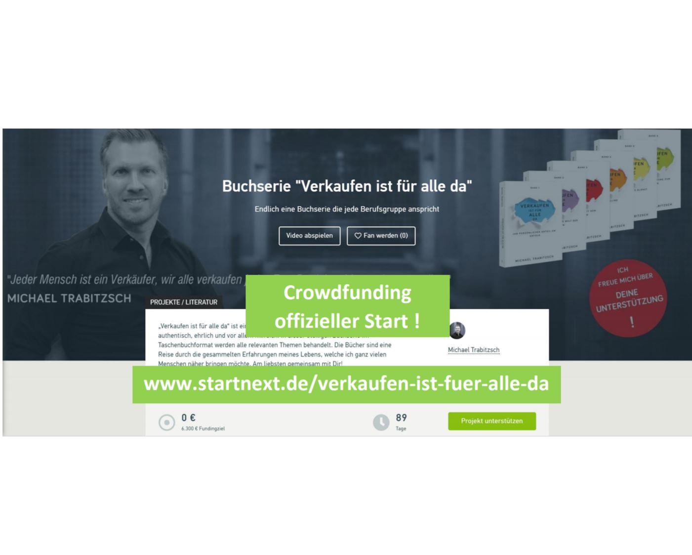 Crowdfunding – offizieller Start